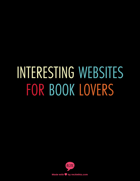 Interesting Websites For Book Lovers