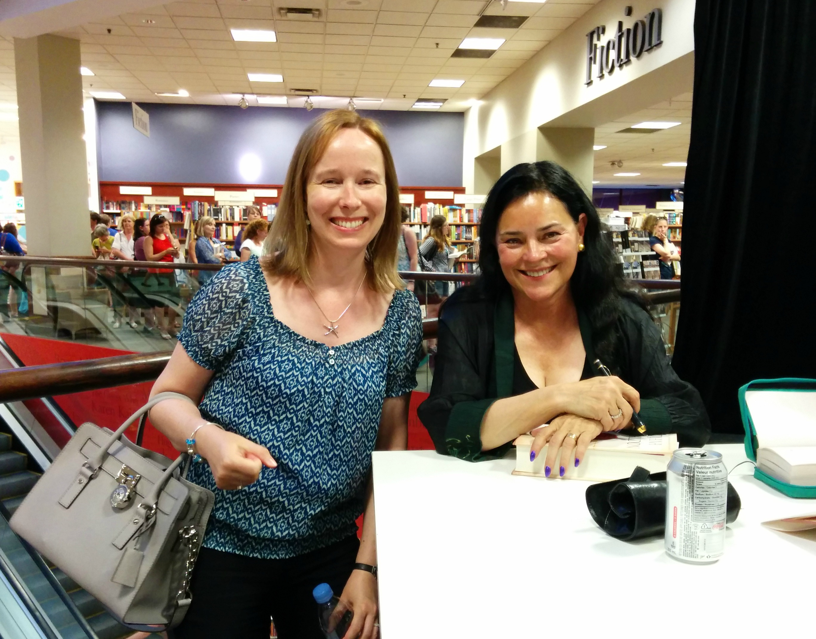 Cecile Sune and Diana Gabaldon at Chapters Rideau