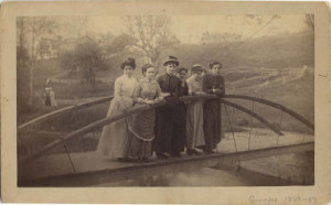 1885 Girls on Bridge